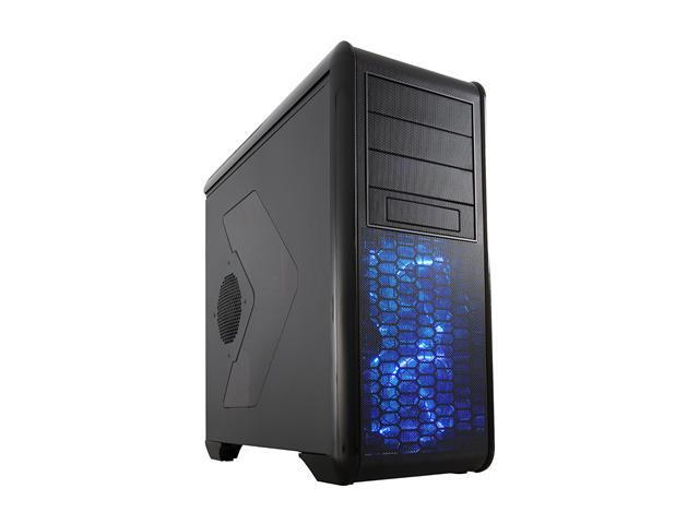 Rosewill BLACKHAWK Gaming ATX Mid Tower Computer Case - Five (5) Preinstalled Fans, Side Window Panel, Top HDD Dock