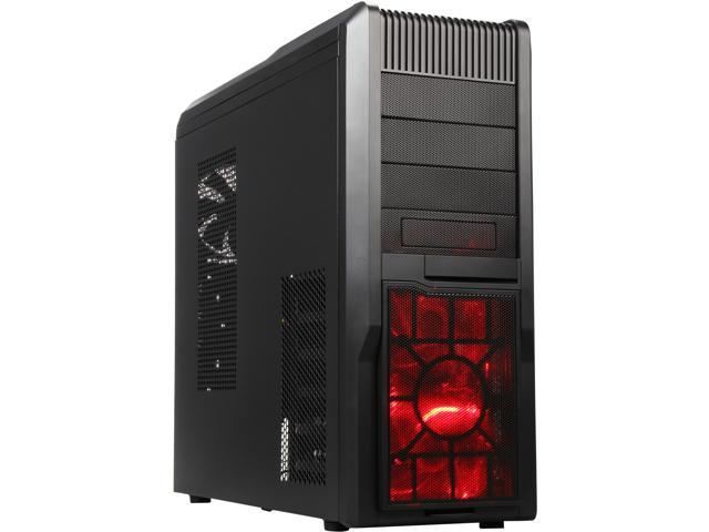 Rosewill R5 Black Gaming ATX Mid Tower Case, comes with 2 x front fans, Fan Controller, USB2.0 & USB3.0 front ports, Removable top and lower ...