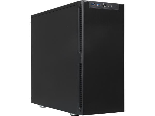 Rosewill Legacy QT01-B Trio Fans Black Aluminum Alloy ATX Mid Tower Silent Computer Case