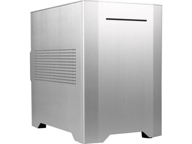 Rosewill Legacy W1-S-Window Silver Aluminum / Steel Mini-ITX Tower Dual Fans Computer Case