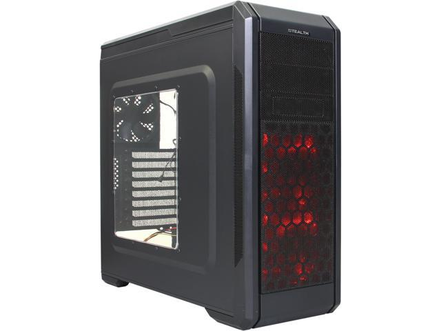 Rosewill Stealth - ATX Mid Tower Gaming Computer Case - Top HDD Dock and Fan Controller Included, Supports Up to 5 Fans