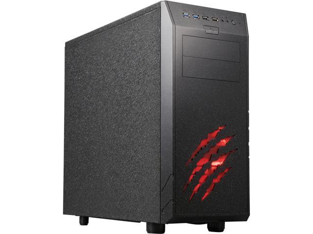 Rosewill WolfStone ATX Mid Tower Gaming Computer Case, support VGA card length up to 340mm, come with four fans-2x Front 120mm Fan, 1x Rear 120mm ...