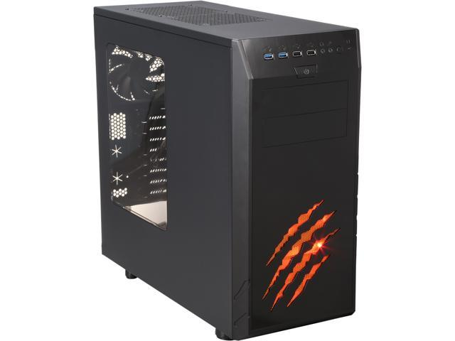 Rosewill WolfAlloy ATX Mid Tower Gaming Computer Case, support VGA card length up to 340mm, come with four fans-2x Front 120mm Fan, 1x Rear 120mm ...