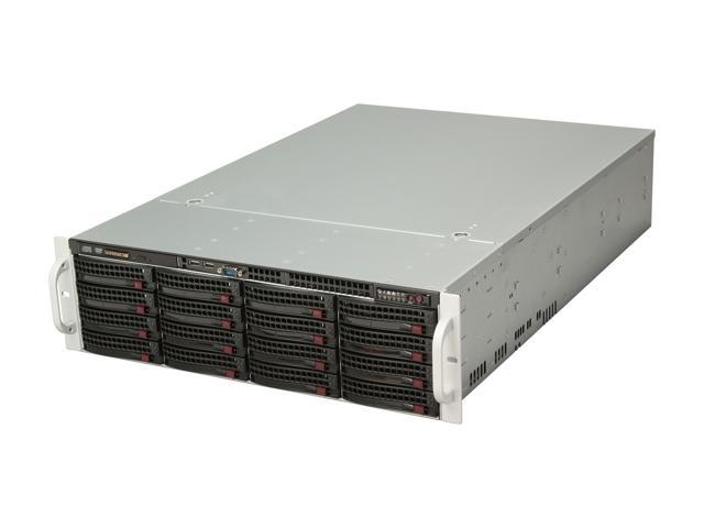 SUPERMICRO SuperChassis CSE-836TQ-R800B Black 3U Rackmount Server Case 800W Redundant