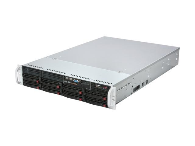 SUPERMICRO CSE-825TQ-R700LPB Black 2U Rackmount Server Case w/ 700W Redundant Power Supply