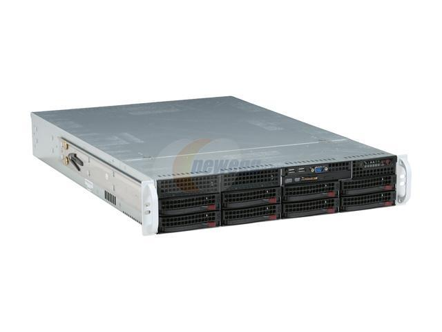 SUPERMICRO CSE- 825TQ- R700LPB Black 2U Rackmount Server Case 700W Redundant