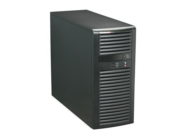 SUPERMICRO CSE-732D4-865B Black Pedestal Server Chassis 865W AC power supply (cooling-redundant) w/ PFC 2 External 5.25