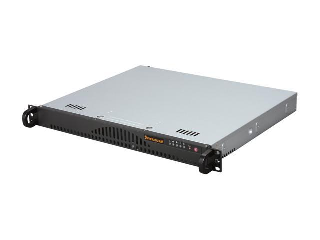 SUPERMICRO SuperChassis CSE-512L-200B Black 1U Rackmount Server Case 200W
