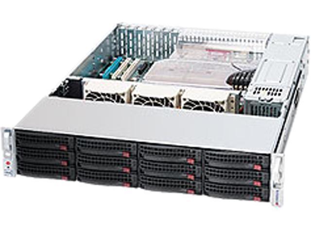 SUPERMICRO SuperChassis CSE-826E26-R1200LPB Black 2U Rackmount Server Case 1200W Redundant