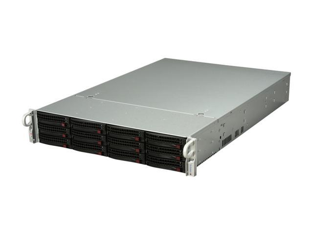 SUPERMICRO SuperChassis CSE-826TQ-R800LPB Black 2U Rackmount Server Case 800W Redundant