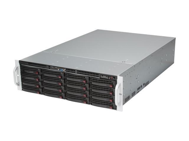 SUPERMICRO SuperChassis CSE-836E16-R1200B Black 3U Rackmount Server Case 1200W Redundant