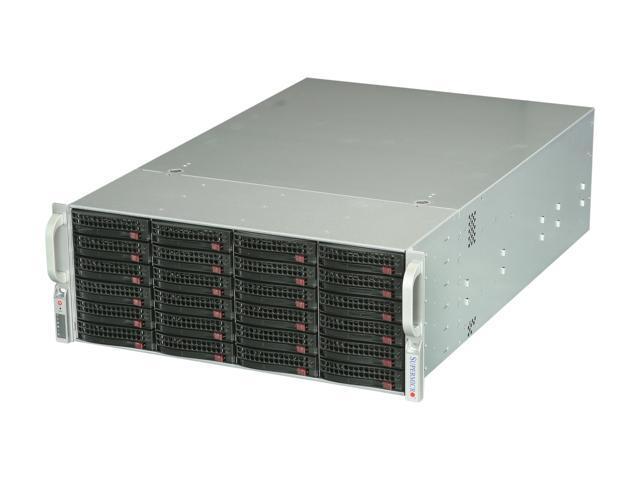 SUPERMICRO CSE-846E16-R1200B Black 4U Rackmount Server Case 1200W Redundant