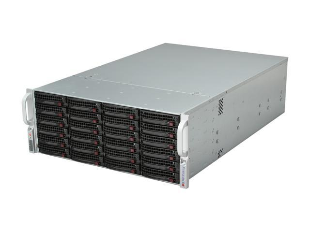 SUPERMICRO SuperChassis CSE-846E26-R1200B Black 4U Rackmount Server Case 1200W Redundant