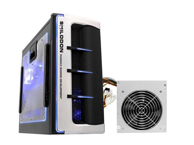 RAIDMAX SMILODON ATX-612WBP Black 1.0mm SECC Steel ATX Mid Tower Foldout MB Computer Case With 500W Power Supply