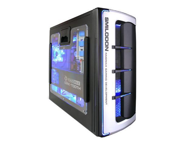 RAIDMAX SMILODON ATX-612WB Black/Silver 1.0mm SECC Steel ATX Mid Tower Foldout MB Computer Case