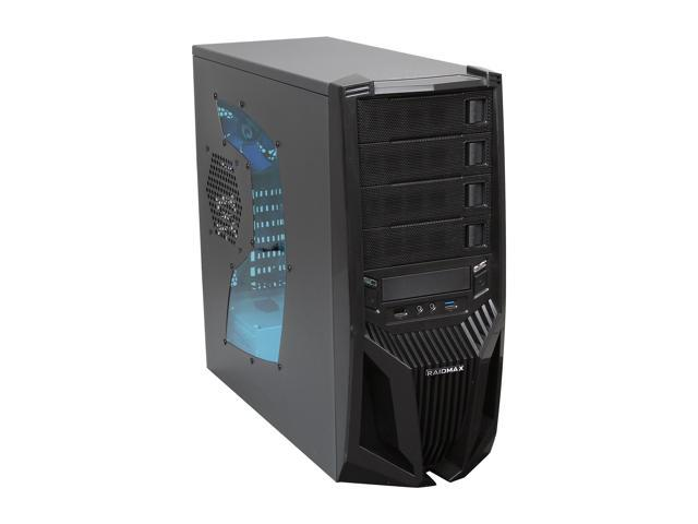 RAIDMAX Blade ATX-298WBP Black Steel / Plastic ATX Mid Tower Computer Case 500W Power Supply