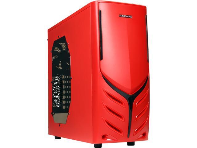 RAIDMAX Viper ATX-321WR Red Steel / Plastic ATX Mid Tower Computer Case