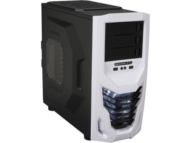 RAIDMAX Cobra ATX-502WWW Black with White front panel Steel / Plastic ATX Mid Tower Computer Case