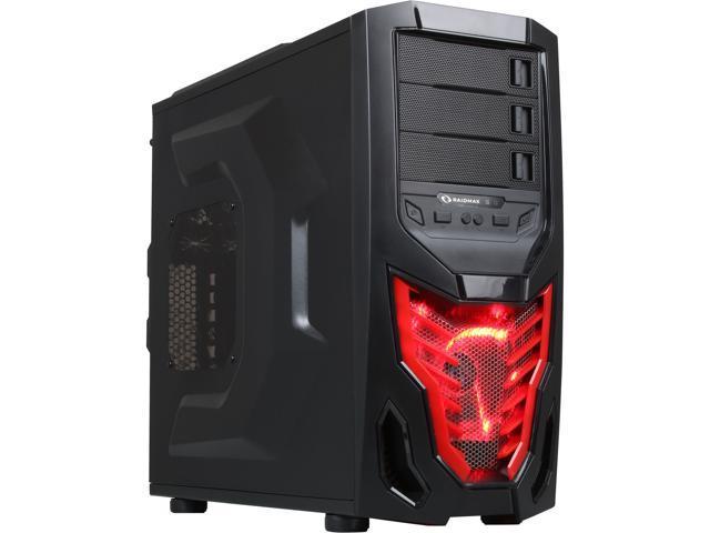 RAIDMAX Cobra Z ATX-502WBR Black/Red Steel / Plastic ATX Mid Tower Computer Case