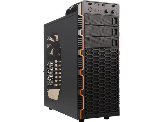 RAIDMAX Seiran II ATX-302WB Black/Orange Steel / Plastic ATX Mid Tower Computer Case