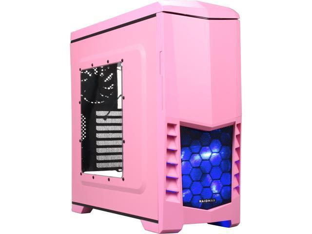 RAIDMAX ATX-503WP Black/Pink Steel / Plastic ATX Mid Tower Computer Case