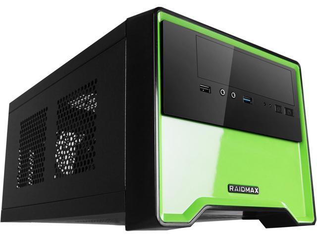 RAIDMAX Element ATX-101BG Black/Green Steel / Plastic Mini-ITX Tower Computer Case