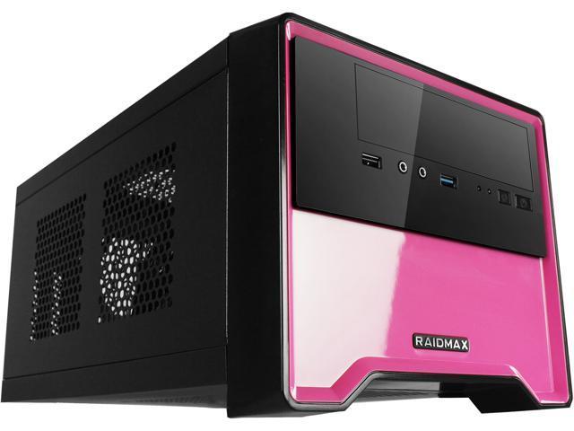 RAIDMAX Element ATX-101BP Black/Pink Steel / Plastic Mini-ITX Tower Computer Case