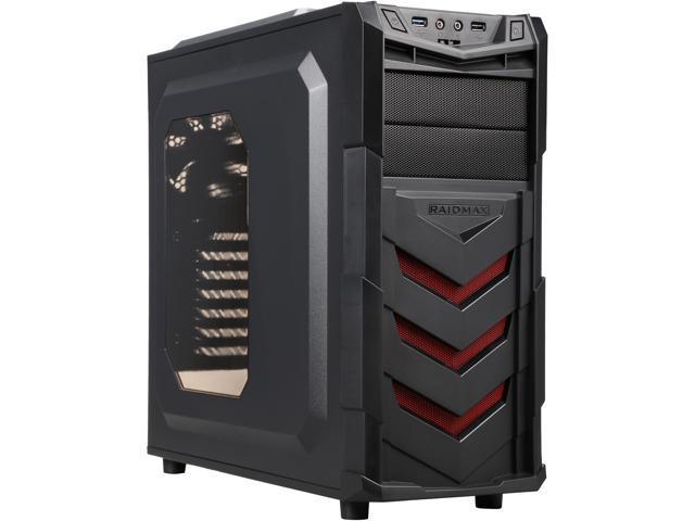 RAIDMAX ATX-404WR Black Steel / Plastic ATX Mid Tower Computer Case