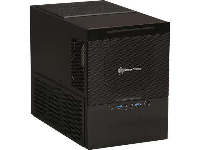 SilverStone Sugo Series SG10B Black Aluminum front panel, steel body MicroATX Mini Tower Computer Case