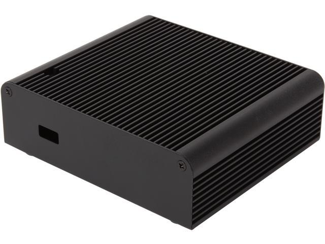 SilverStone PETITE Series PT14B-H1T1 Black Aluminum NUC Computer Case with 1x HDMI Port and 1x Thunderbolt Port