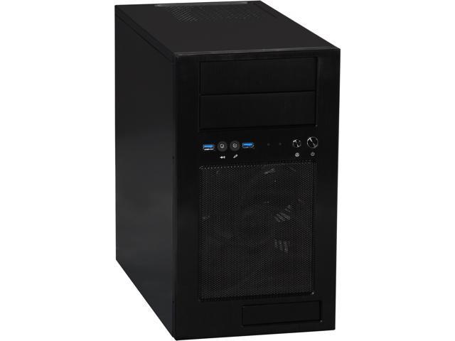 SilverStone Temjin Series TJ08B-E Black Aluminum front panel, steel body MicroATX Mini Tower Computer Case