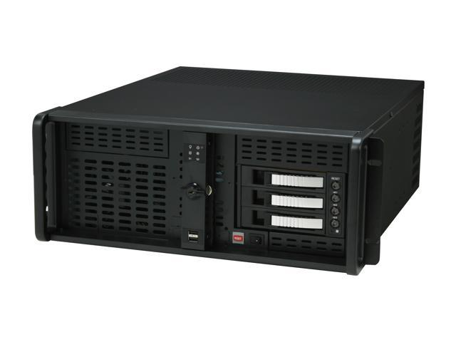 iStarUSA D-400PL-B23-Silver Aluminum / Steel 4U Rackmount Server Case 3xSATA Hot-Swap with 20