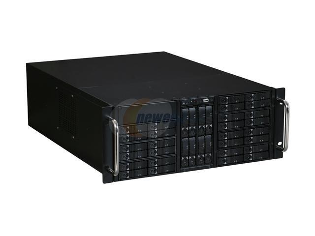 iStarUSA D-410-B36SS Black Zinc-Coated Steel 4U Rackmount Server Case