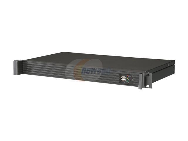iStarUSA D-118V2-ITX-27FX8 Black Metal / Aluminum 1U Rackmount Compact Server Case 270W 80Plus