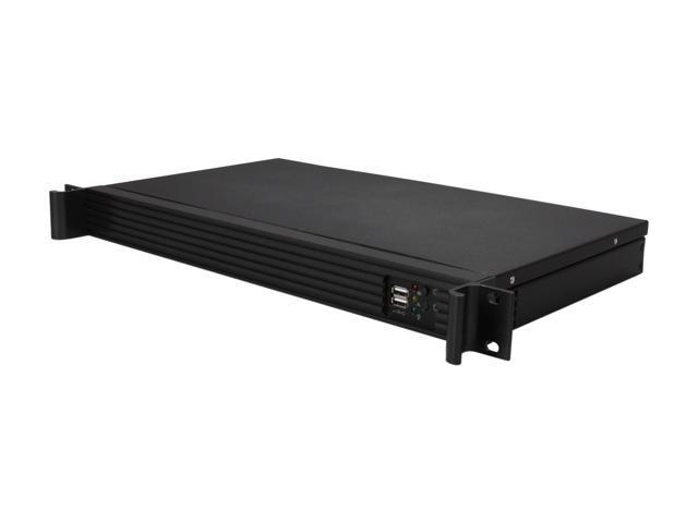 iStarUSA D-118V2-ITX-30FX8 Black Metal / Aluminum 1U Rackmount Compact Server Case 300W 80Plus - OEM