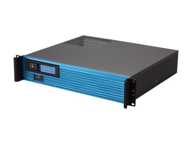 iStarUSA D213MATX-DE1BL-BL Aluminum / Steel 2U Rackmount Compact Server Case - Blue Bezel