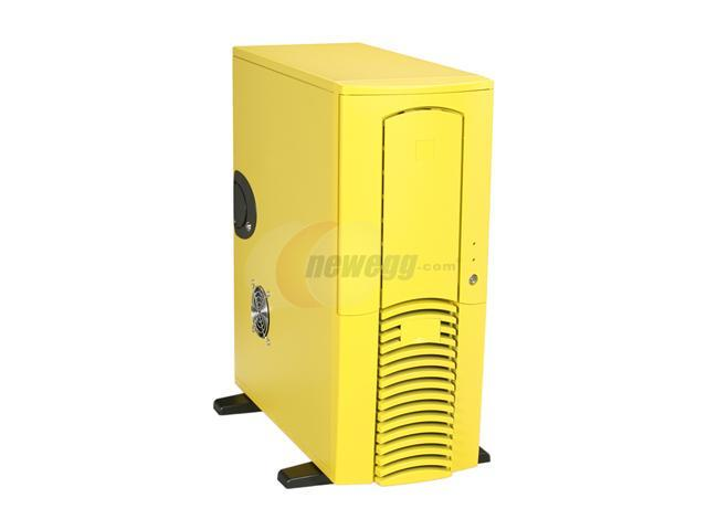 Athena Power CA-601Y80 Yellow SECC 1.0mm Steel ATX Full Tower Computer Case V2.92 EPS 800W Active PFC Power Supply