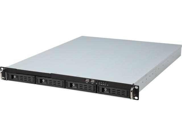 Athena Power RM-1U1043HA Black 1.0mm SGCC 1U Rackmount Server Case 1U Single Flex ATX