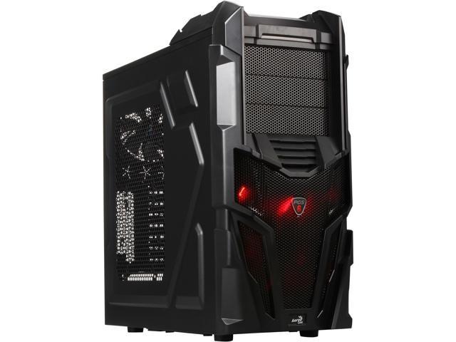 AeroCool Mechatron-Black Steel Edition Black 0.6 SECC Steel ATX Mid Tower Computer Case
