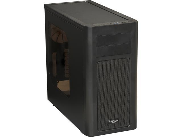 Fractal Design Arc Midi R2 FD-CA-ARC-R2-BL-W Black Steel ATX Mid Tower Computer Case