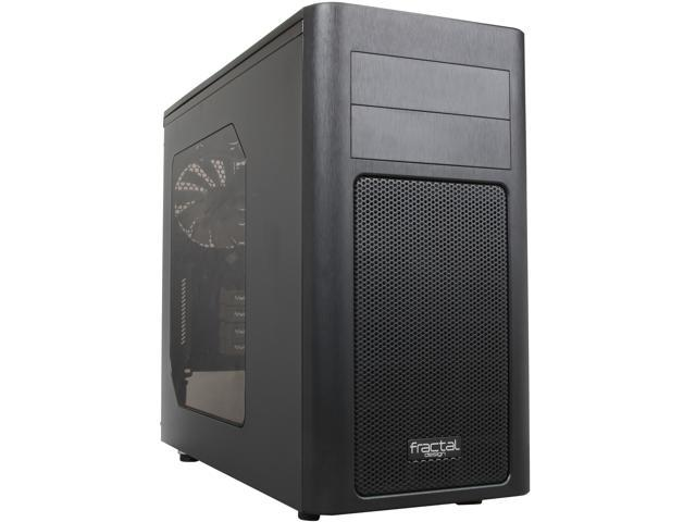 Fractal Design FD-CA-ARC-MINI-R2-BL-W Black Steel MicroATX Mini Tower Computer Case
