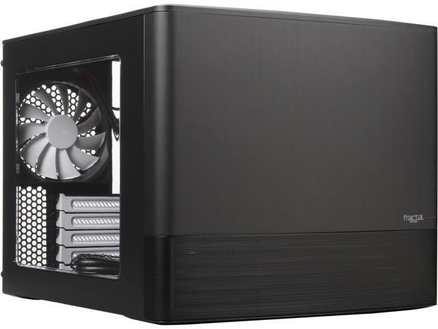 Fractal Design FD-CA-NODE-804-BL Black Aluminum / Steel MATX Cube Case Computer Case