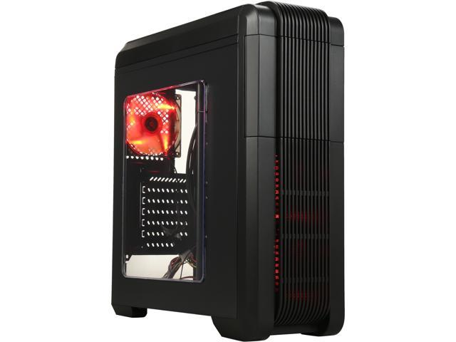 DIYPC Adventurer-I8-R Black SPCC ATX Mid Tower Computer Case