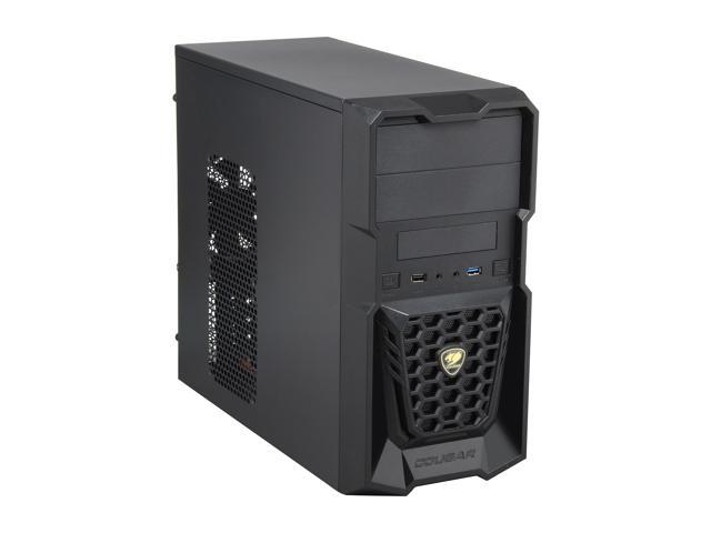COUGAR Spike Black Steel / Plastic MicroATX Mini Tower Gaming Case with USB 3.0 and 12CM Cougar Fan