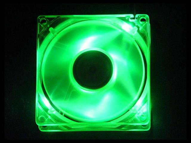 APEVIA CF4SL-UGN 80mm 4 x Green Lights LED UV Green LED Case Fan