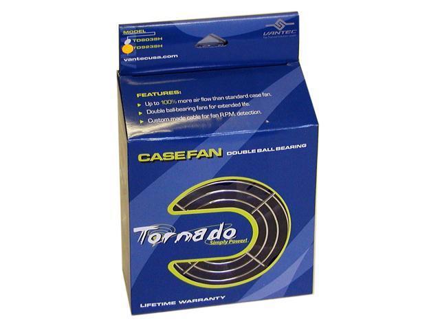 Vantec Tornado 92mm Double Ball Bearing High Air Flow Case Fan - Model TD9238H