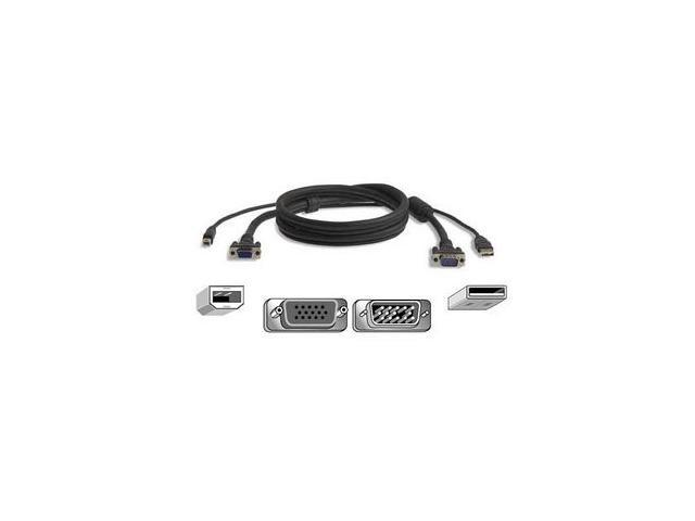 BELKIN 15 ft. PRO2 All-in-one KVM Cable Kit, USB F3X1962b15