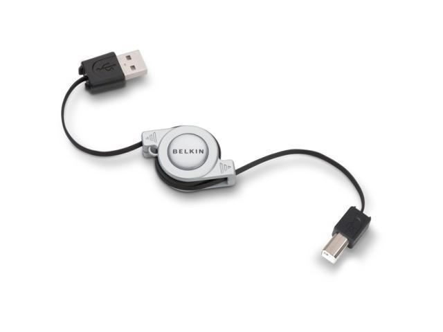 Belkin F3U133V03-RTC 2.6 ft. Retractable Hi-Speed USB 2.0 Cable