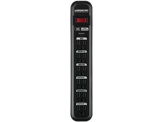 MONSTER MPJP600 6' 6 Outlets 540 Joules Surge Protector