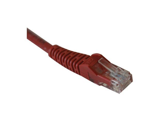 TRIPP LITE N201-007-RD 7 ft. Cat 6 Red Color Gigabit Snagless Molded Patch Cable